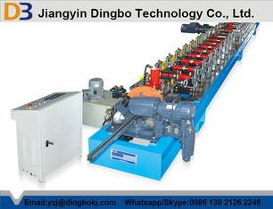 Colored Steel Roller Shutter Door Roll Forming Machine With Chain Transmission