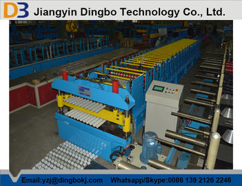 Easy Operation Cr12 Corrugated Roll Forming Machine With PLC controller 1250mm width