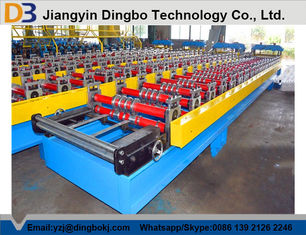 Construction Wall / Roof Panel Roll Forming Machine With Touch Screen PLC Control System