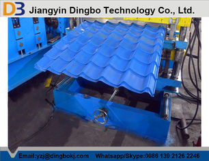 Steel Glazed Tile Roof Forming Machine with 0.4 - 0.8mm Thickness of Material